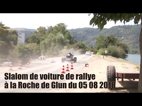 Slalom de voiture de rallye à  roche de glun du 05 08 2018