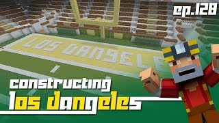 Minecraft Xbox 360: Constructing Los Dangeles - Episode 128! (Stadium Work!)