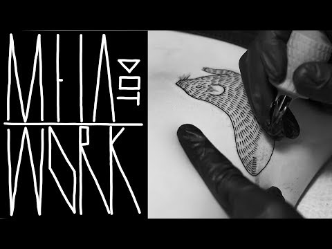 LINEWORK TATTOO TECHNIQUES | REAL TIME | BLACKWORK RAT by M E I A | NYC