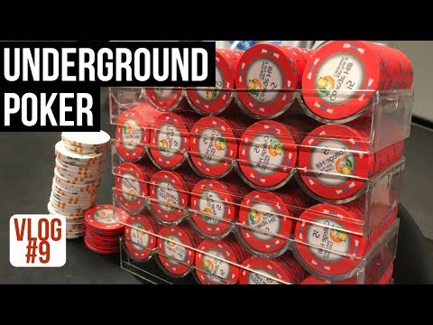 UNDERGROUND Cash Game Poker and NCAA Basketball l Poker VLog 9 l Week 7