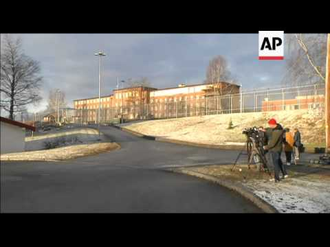 Preps ahead of the trial of Anders Brevik; court exteriors and Utoya Island pics