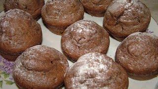 Быстрые шоколадные кексы без яиц