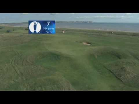 Key hole at Royal St. George's in the British Open