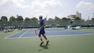 (画質良) 2016年度 全日本学生テニス選手権 男子シングルス 準決勝 小林雅哉(早大) 対 上杉海斗(慶大) 2ndセット