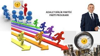 Adalet Birlik Partisi Programı