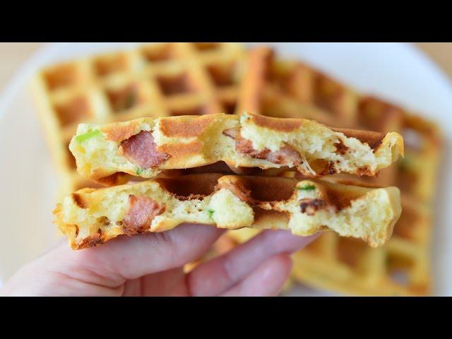 Изображение Вафли с беконом ☆ Waffles with bacon ☆ Идеальный завтрак