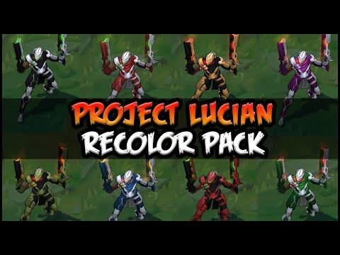 Project Lucian Chroma Pack (9 Skins) - Custom Skin Spotlight - League of Legends (lol)