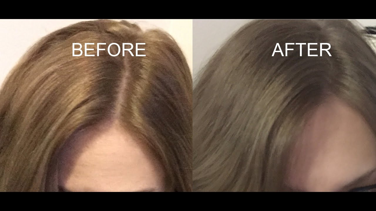How To Tone Brassy Dark Hair Youtube