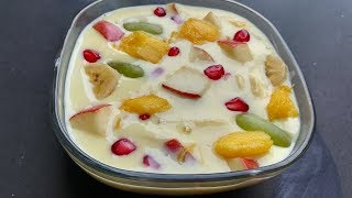 fruit custard milk