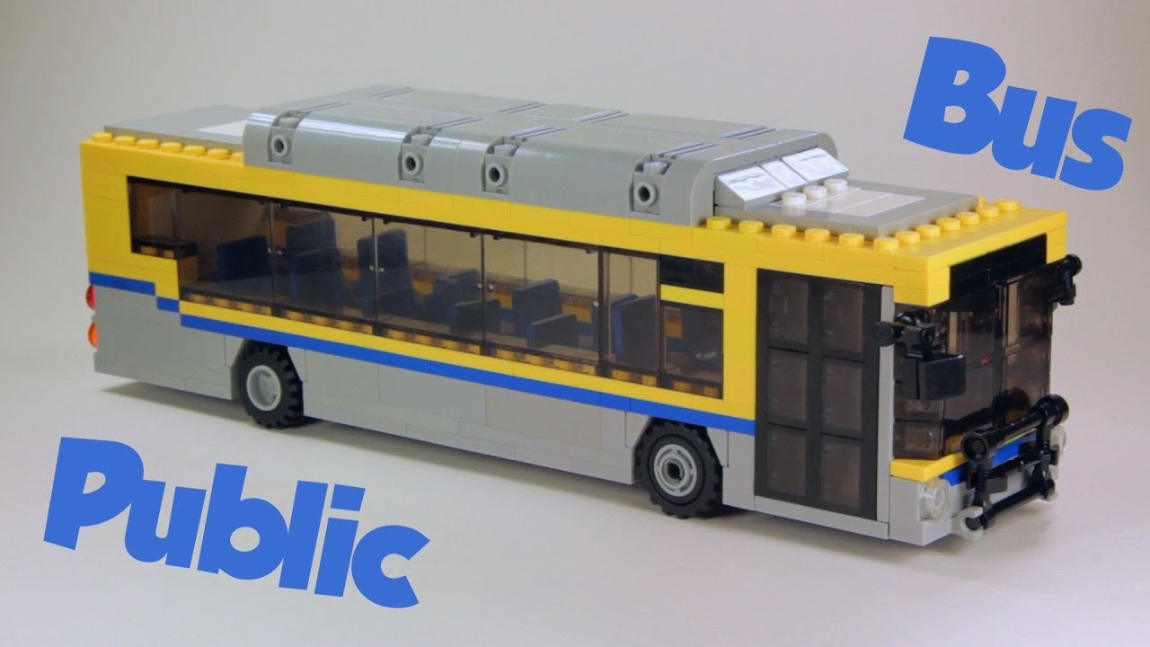 Custom Lego Vehicle Public Bus Instructions Download In