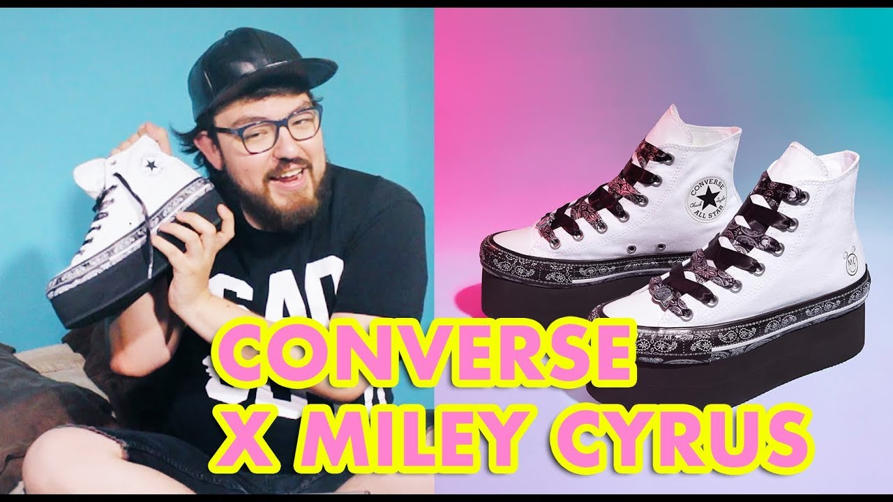197e30ea54aed2 CONVERSE X MILEY CYRUS   UNBOXING REVIEW ESPAÑOL - MikeMontalvo ...