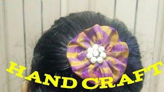 Dress க்கு மேட்சா நாமே செய்யலாம் hair clips / hair bands