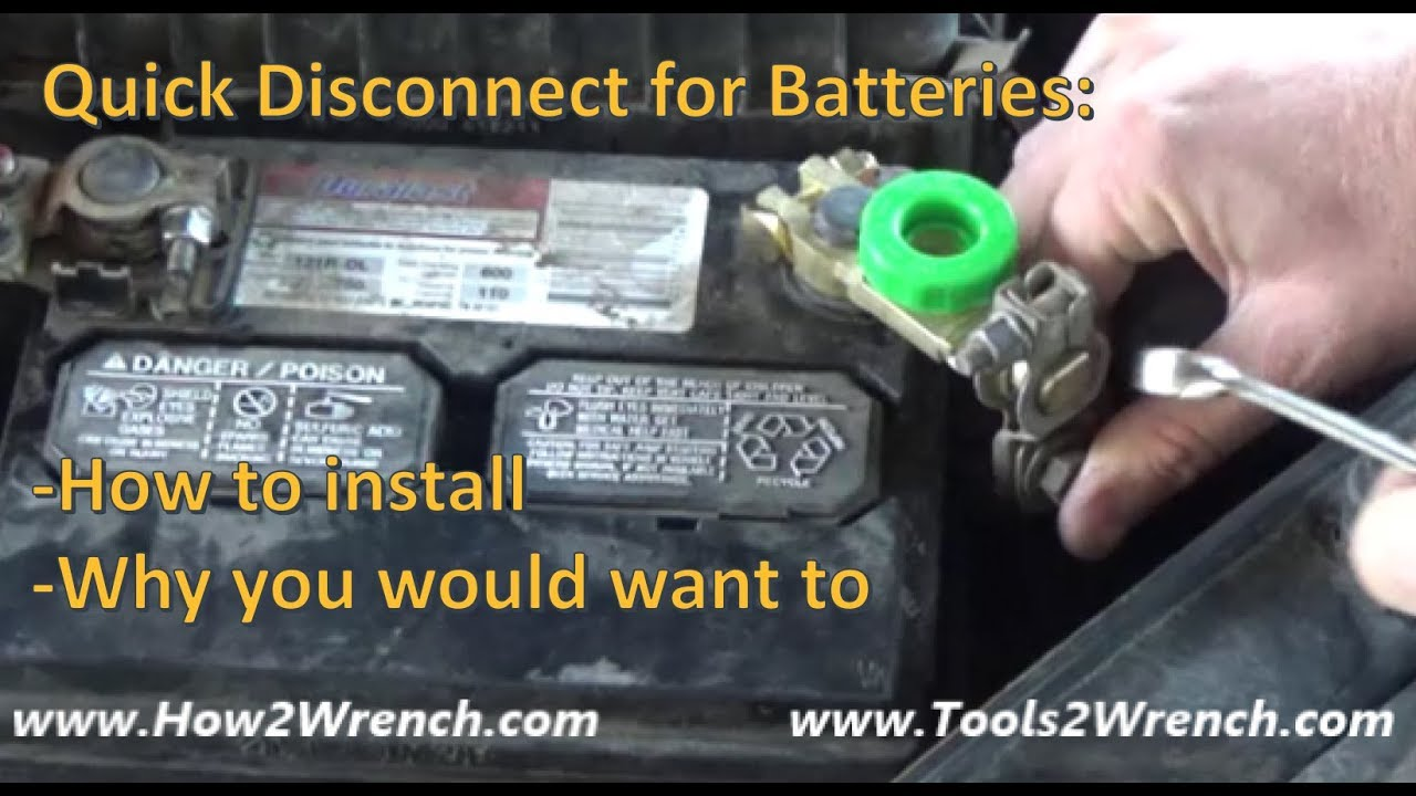 How to install a battery quick disconnect for long-time storage of a  vehicle