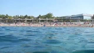 Пляж и подводная съемка Судак. Отдых в Крыму 2016(Отдыхаем на пляже возле спасательной станции в Судаке., 2016-07-26T14:40:02.000Z)