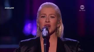 Pink Reacts To Christina Aguilera VMA 2017