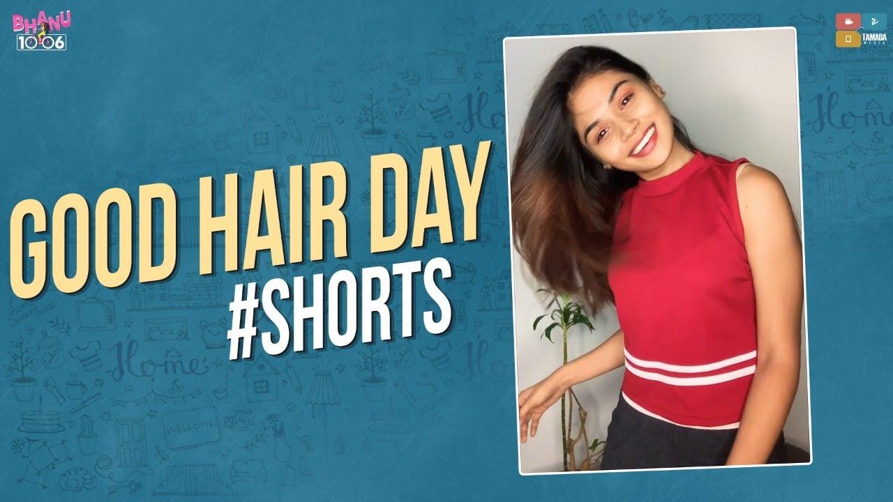 Good hair day 😍 #goodhairday #shorts #bhanu1006