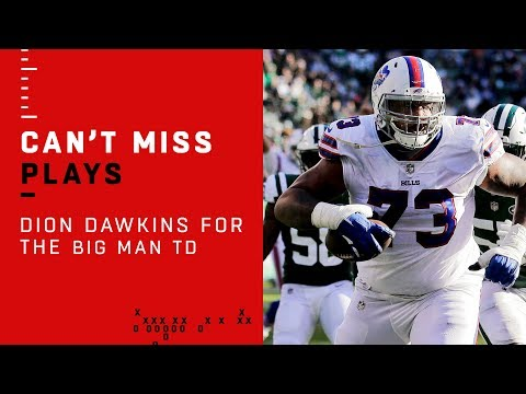 Bills Left Tackle Catches Pass for the BIG MAN TD!!!