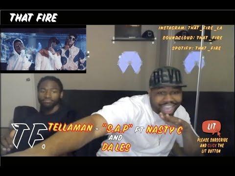 Tellaman - S.A.P Feat. Nasty_C & Da Les (Official Music Video)(Thatfire Reaction)