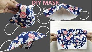 Very Easy DIY Breathable Face Mask Sewing Tutorial DIY 3D Face Mask Mascara 3D Linda