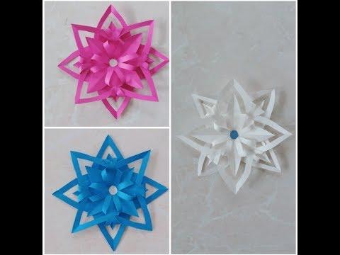 Doğum Günü Süslemeleri & Kağıttan Kar Tanesi Yapımı || DIY Easy Paper Snowflakes || Hobi Günlüğüm