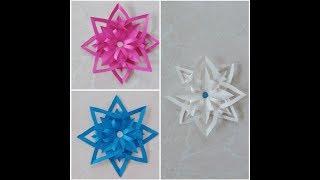 Doğum Günü Süslemeleri & Kağıttan Kar Tanesi Yapımı    DIY Easy Paper Snowflakes