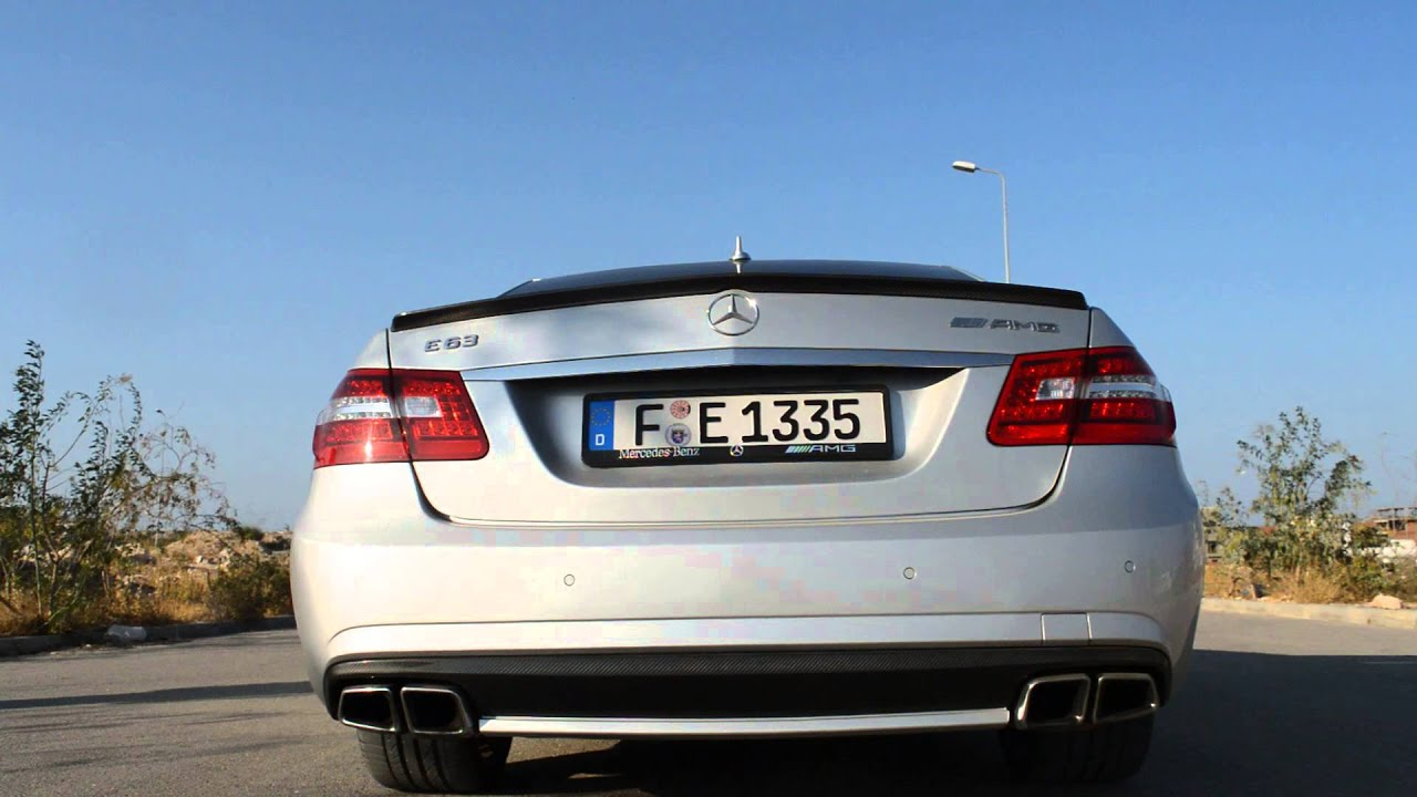 Mercedes benz e63 amg l exhaust sound and acceleration