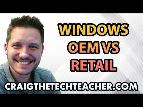 Windows 7 OEM vs  Windows 7 Retail Licensing Compared - YouTube