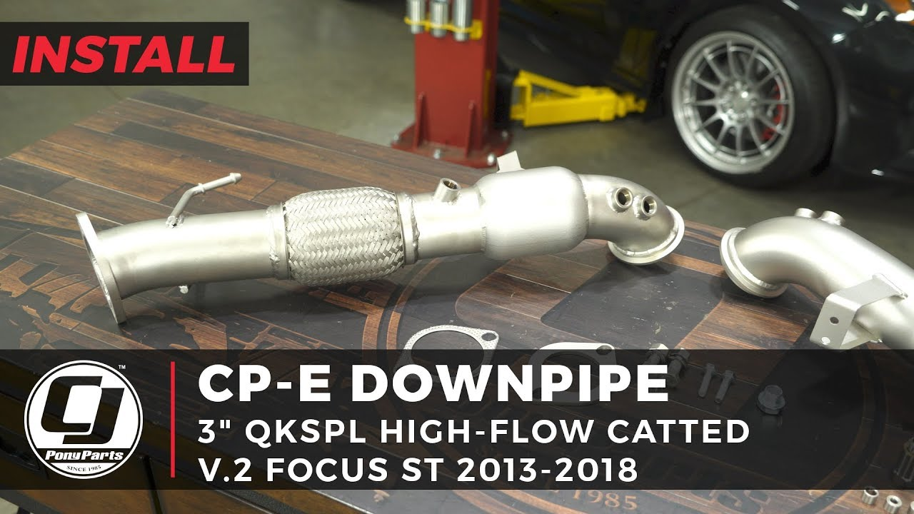 cp-e Downpipe QKspl High-Flow Catted Stainless Steel 3