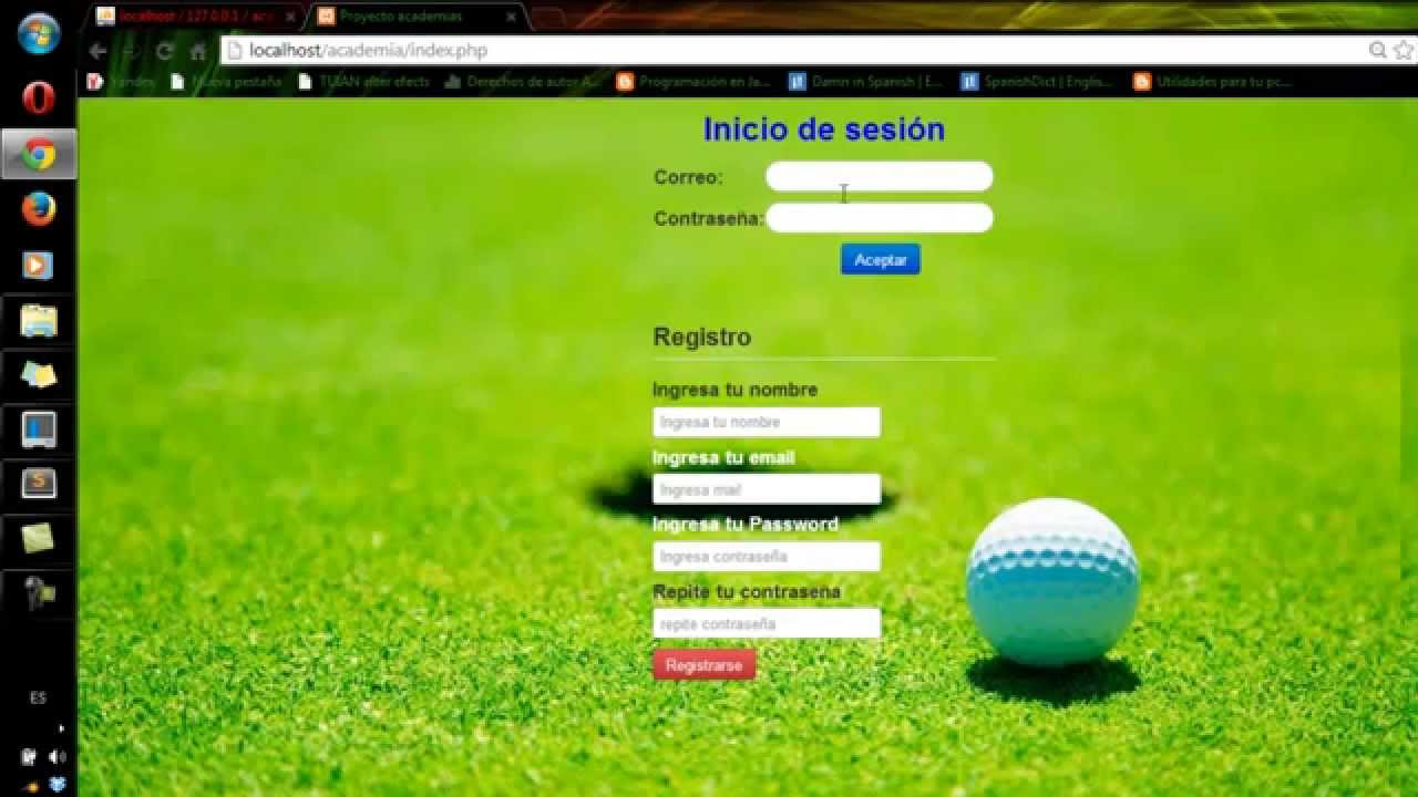 Login y registro con php y base de datos mysql - YouTube