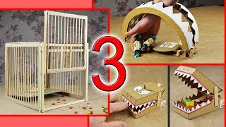 3 amazing TOY TRAPS for ANIMALS Compilation