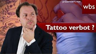 Darf mir mein Chef Tattoos verbieten? - Muss ich mich daran halten? | RA Christian Solmecke