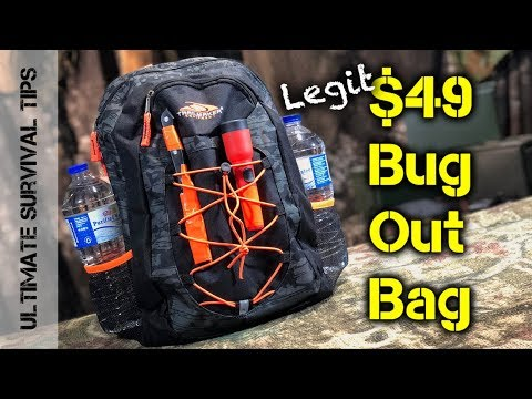 DIY $49 Bug Out Bag / Emergency Kit - YOU Can MAKE - GEAR CAVE #001