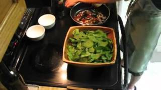 Spinach Salad with a Warm Bacon Vinaigrette Dressing