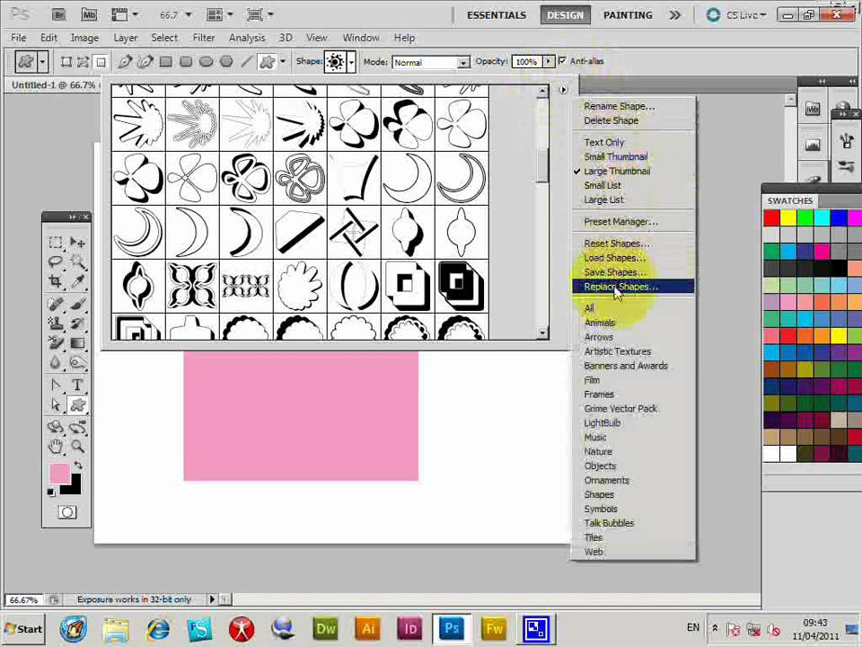 Create Photoshop Patterns From Custom Shapes Curved Tutorial CS40 Stunning Create Pattern Photoshop