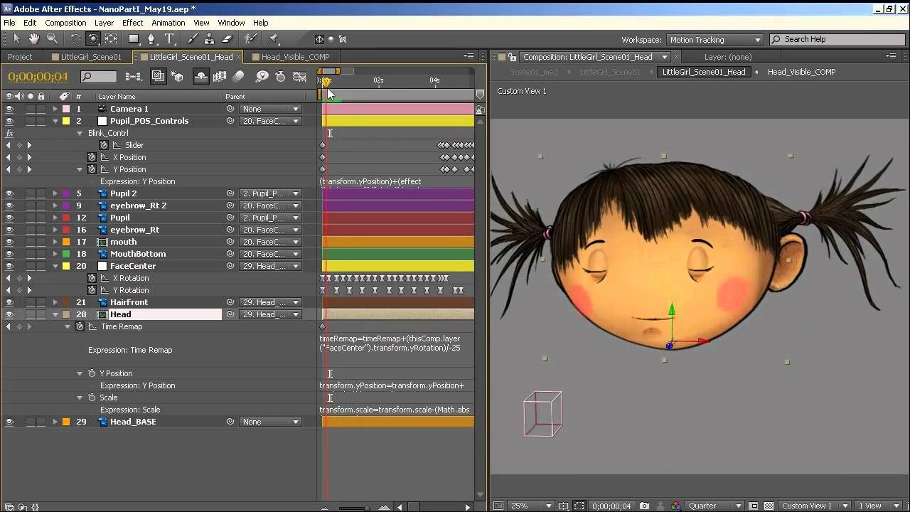 How To Animate a Simple 2D Character Head Rotation in Adobe After ...