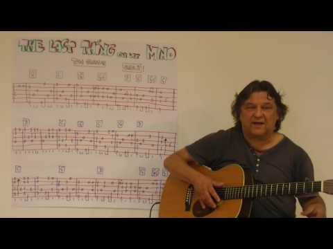 Fingerstyle Guitar Lesson #103: LAST THING ON MY MIND (Tom Paxton)