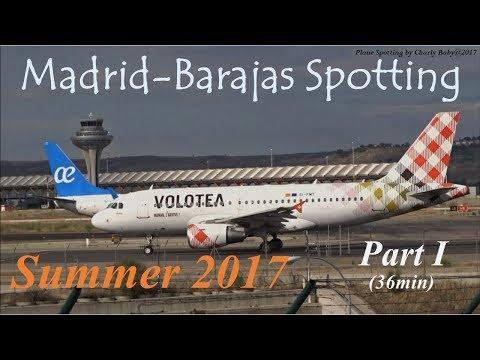 Madrid-Barajas Airport Spotting: Summer Evening Traffic (2017/07/08) Part 1/4