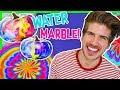 DIY HALLOWEEN WATER MARBLE PUMPKIN ART!