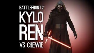Battlefront 2: KYLO REN vs CHEWIE - AVENGE HAN (Battlefront 2 Split Screen Gameplay)