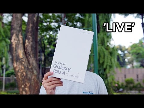 Unboxing Samsung Galaxy Tab A 2016 Indonesia - With S Pen