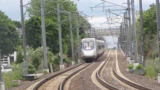Amtrak Trains in Mystic CT RR Crossing