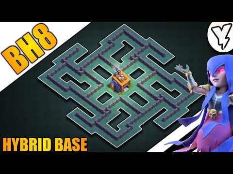 MOST EPIC BH8 BASE TESTED 100% WORKING✅✅ | BUILDER HALL LEVEL 8 HYBRID BASE LAYOUT | WITH 5 REPLYS