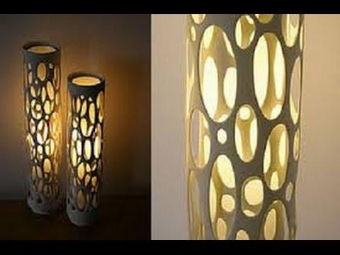 Como hacer lamparas con ca os de pvc 7 youtube - Como hacer lamparas de techo artesanales ...