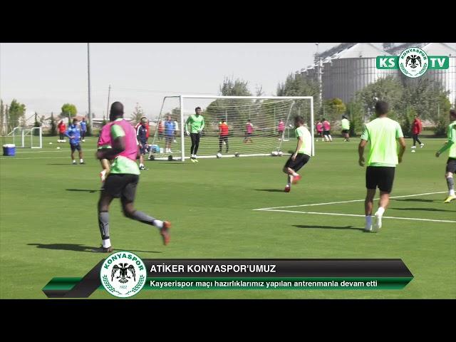 Takımımız yaptığı antrenmanla Kayserispor maçı hazırlıklarını sürdürdü