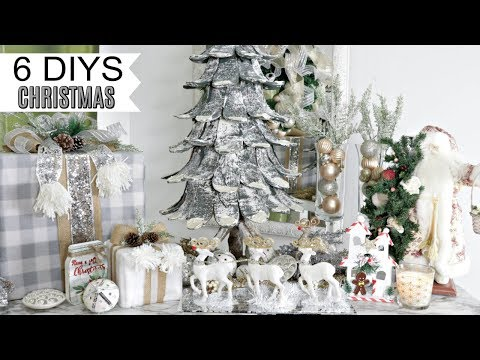 "🎄6 DIY DOLLAR TREE CHRISTMAS DECOR CRAFTS 2019🎄GLAM ""I Love Christmas"" ep10 Olivia's Romantic Home"
