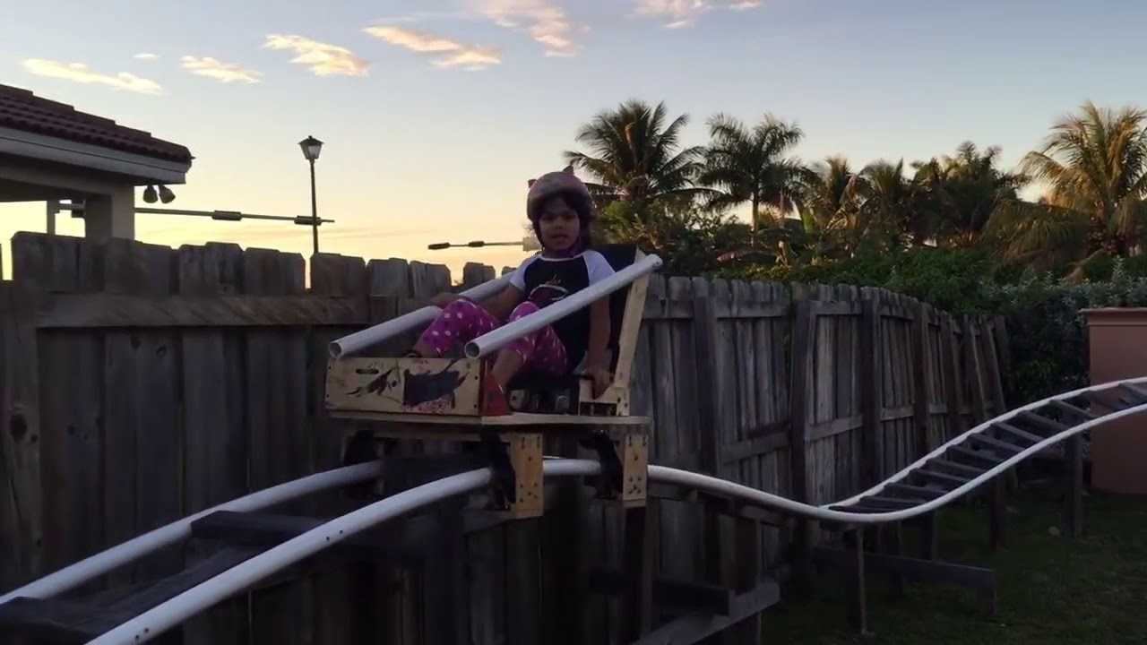 backyard roller coaster u0027electric motor driven u0027 youtube