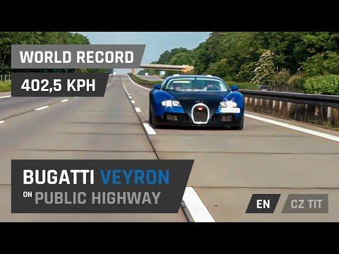 Bugatti Veyron – 402,5 km/h on autobahn