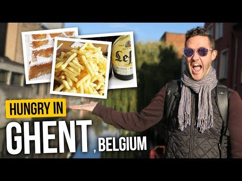 EATING Our Way Through GHENT. (Canadians Try Belgian Food)