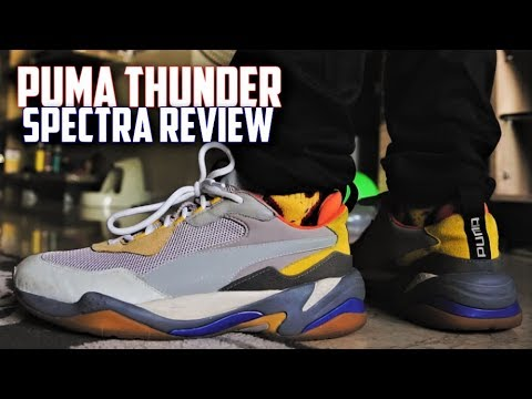 BEST $100 DAD SHOE? Puma Thunder Spectra (GREY) REVIEW and ON FEET | SneakerTalk365