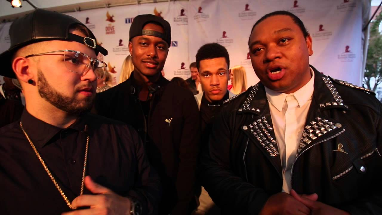Andy Mineo, Trip Lee, Tedashii, KB on Dove Awards 2014 Red Carpet (@rapzilla #doveawards)